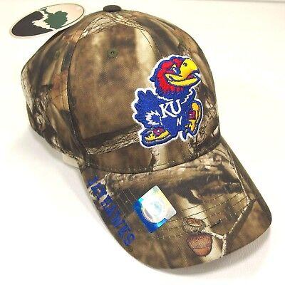 af76cdcd1798b NCAA Kansas Jayhawks KU Embroidered CAMO One-Size Unisex Baseball Cap Hat  NEW