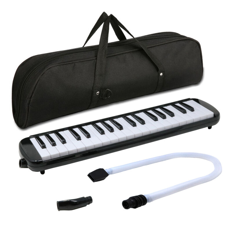 Fever Black 37 Key Melodica with Protective Bag