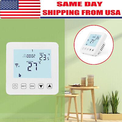 WiFi Thermostat Electric Heating LCD Smart Digital Controller Alexa Google -
