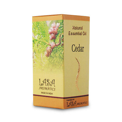 Lasa Aromatics Cedar Natural Essential Oil For External Use Only 10 ml ()