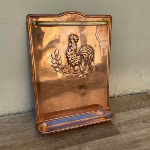 Rare Vintage French Copper cock Utensils holder brass 1604213