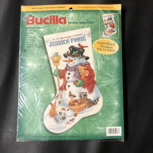 Bucilla Woodland Friends Christmas Stocking Counted Cross St