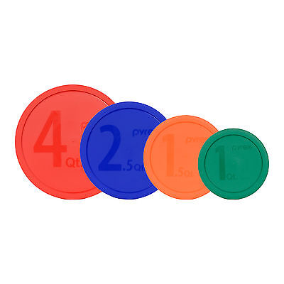 Pyrex 326-PC 4qt 325-PC 2.5qt 323-PC 1.5qt 322-PC 1qt Mixing Bowl Lids 4PK