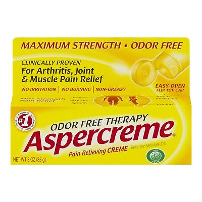 New Aspercreme Odor Free Therapy Pain Relieving Creme 3 (Aspercreme Odor Free Therapy)