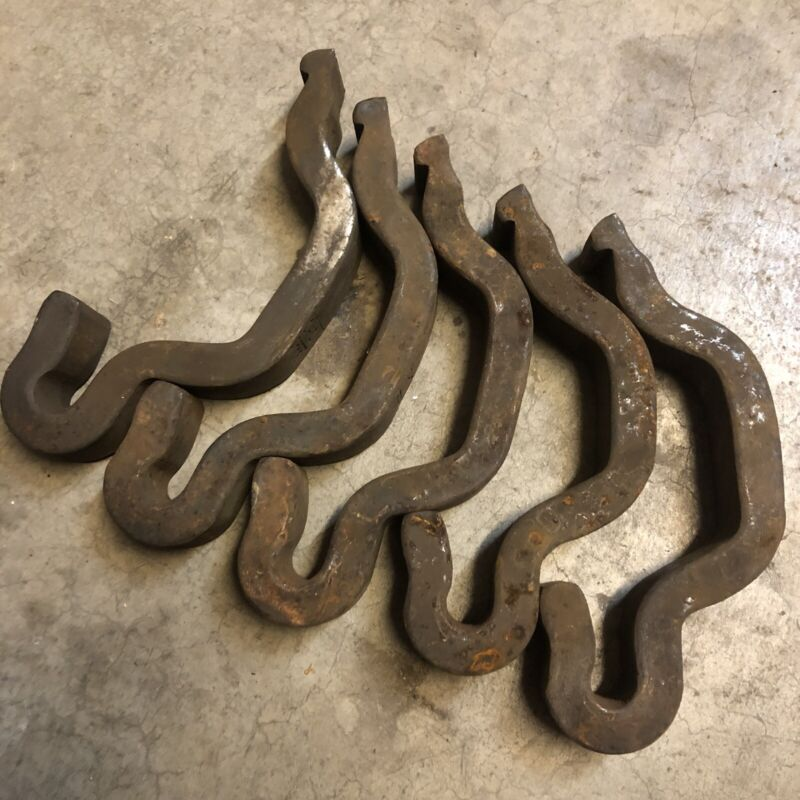 Vintage Railroad Anchors 5, Train Track, J Hook, Blacksmith iron