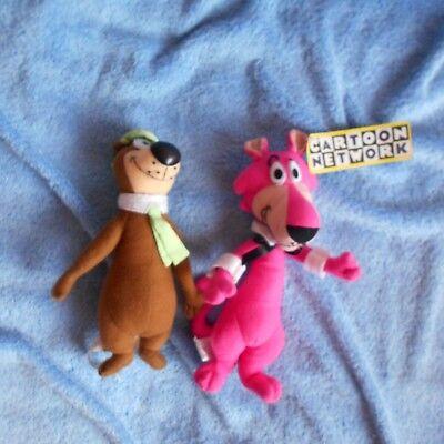 yogi bear snagglepuss models cartoon WACKY RACES TOP soft plush cuddly TOYs