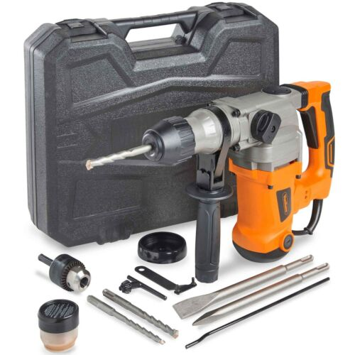 VonHaus Rotary Impact Hammer Drill 10A | Comes with SDS Drill Bits & Extra Chuck