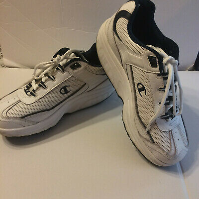 Champion Athletic Sneakers (Champion Mens Classic White and Blue Athletic Shoes Sneakers Size 7)