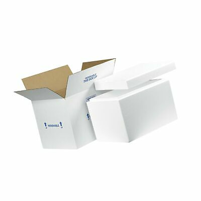 """Insulated Shipping Kits, 19"""" x 12"""" x 12 1/2"""", White, 1/Case"""