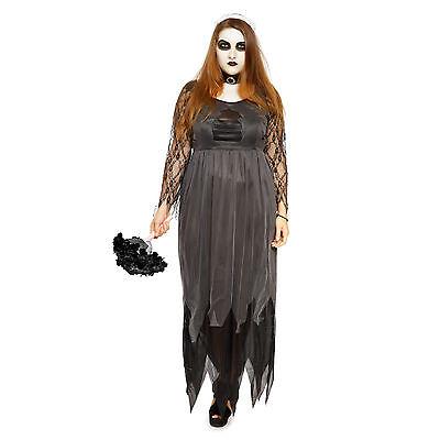 Damen Halloween Zombiebraut Zombie Kleid Übergröße Kostüm Horror Karneval Gr.XXL