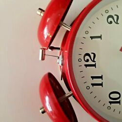 Wind-up Double bell alarm clock. new non-retail box. No hanging hardware or feet
