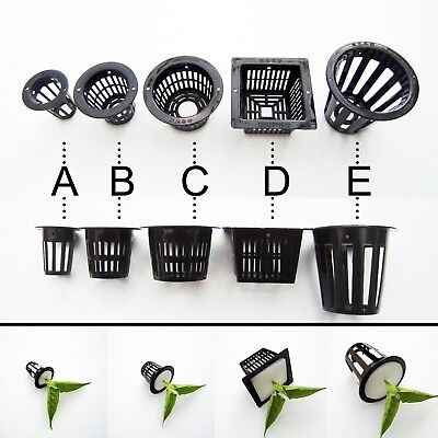 10pcs Mesh Pot Net Cup Basket Hydroponic Aeroponic Plant Grow Clone Kit Hanging