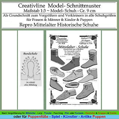 Sammlung 20 - Schnittmuster 1:3 Mittelalter Schuhe