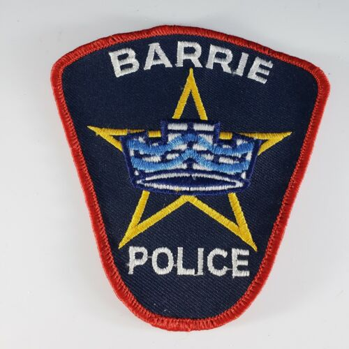 Ontario Canada  BARRIE Police Shoulder Patch Cheese Cloth Embroidered
