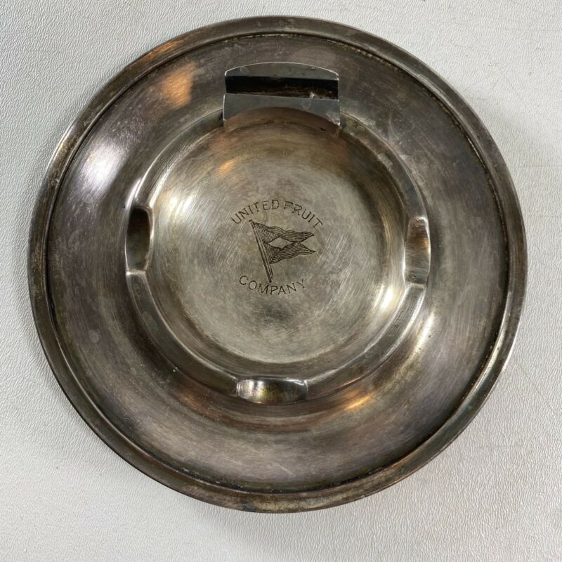Vintage United Fruit Company Silver Plate Ash Tray International Silver Co. -d