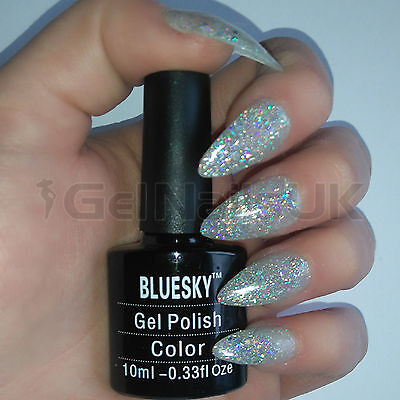 Bluesky KS2238 BEDAZZLED UV/LED Soak Off Gel Nail Polish 10ml Free Postage