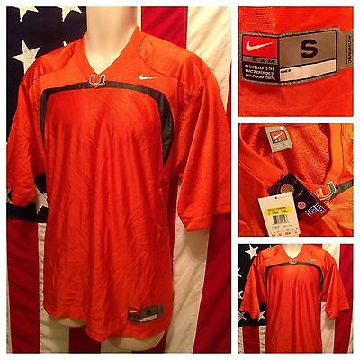 Nike Miami University Hurricanes Football Jersey S Custom $60 NWT The U Canes