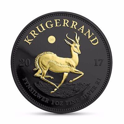 Krügerrand 2017 Silber 50 Jahre Jubiläumsausgabe Black Ruthenium Edition