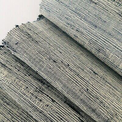 Meditation #C 7x54 Tsumugi Silk Japanese Kimono Fabric Panel Authentic TC30
