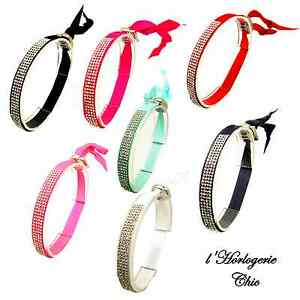 bracelet ruban strass graine de cafe mode bijoux femme rose fushia 3 1 offert ebay. Black Bedroom Furniture Sets. Home Design Ideas