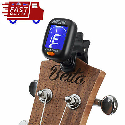 Digital Chromatic LCD Clip-On Electric Tuner for Bass Guitar Ukulele Violin US