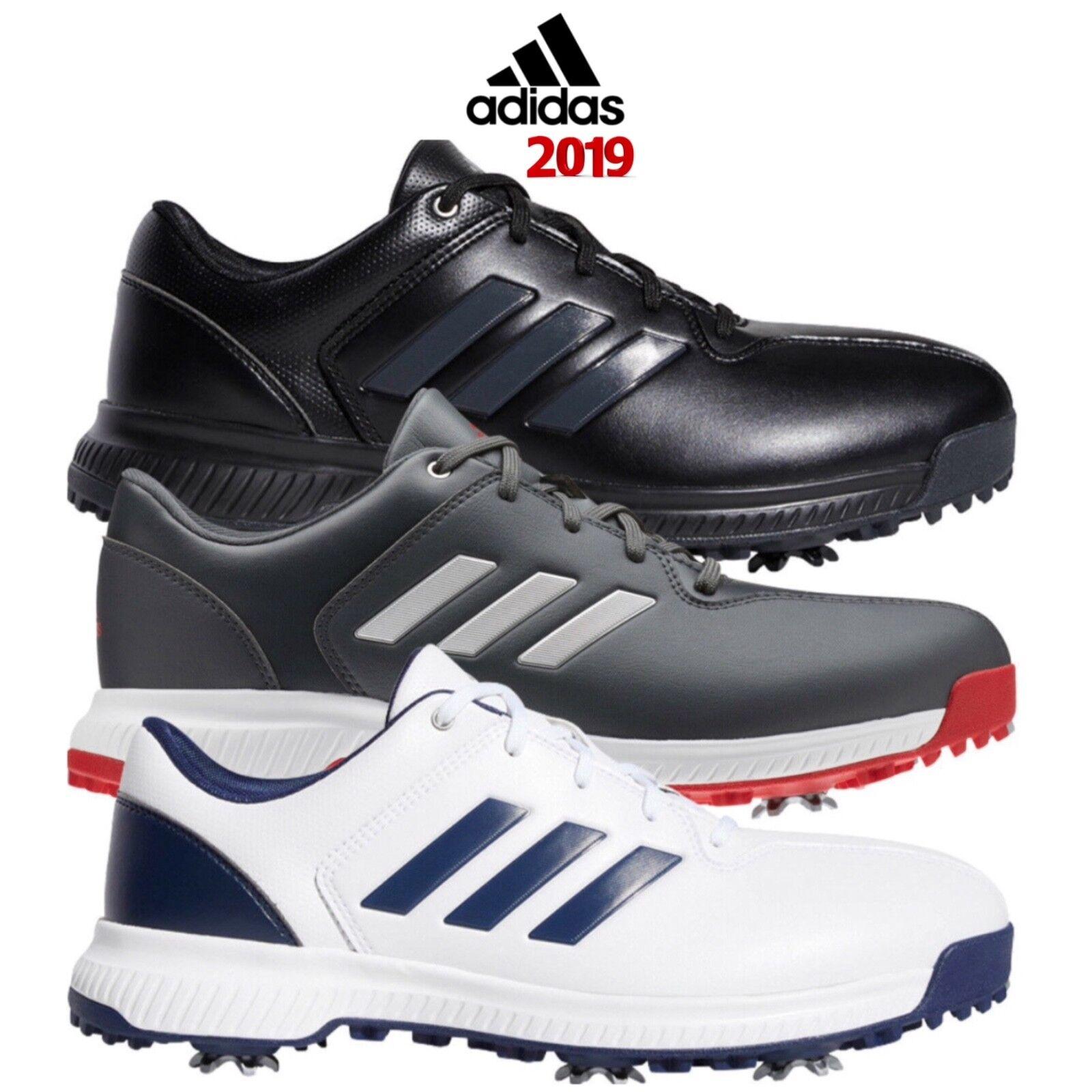 Details zu Adidas Golf CP Traxion Herren Weite Passform Wasserfest Pieken Leder Schuhe 2019