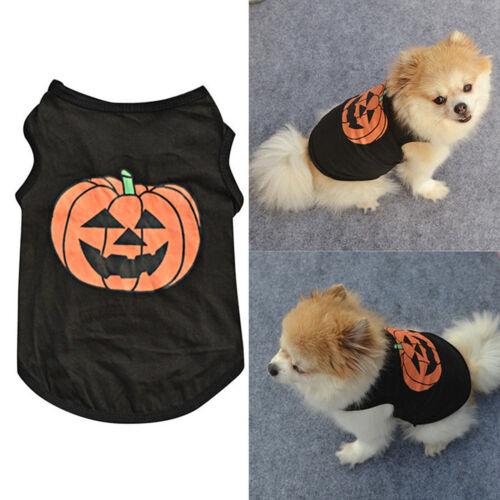 Pet Dog Halloween Pumpkin Outfit Costume Puppy Coat Sweater Jumper Cute Clothes 4