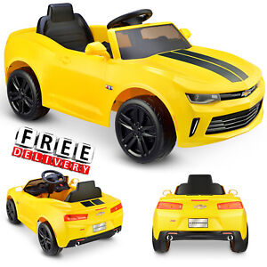 122f8b0fa19 Battery Powered Car For Kids Ride On Toy 6V Electric Camaro Toddler Vehicle