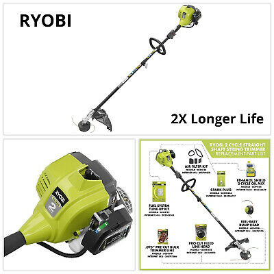 Ryobi Gas String Trimmer Weed Wacker Eater Edger Grass Lawn Crank Straight Shaft