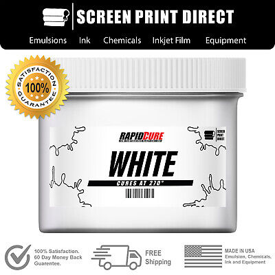 White - Screen Printing Plastisol Ink - Low Temp Cure 270f - 8oz
