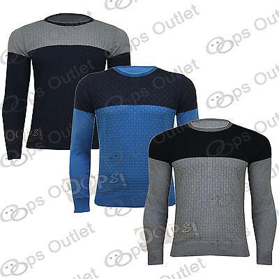 New Mens Long Sleeves Knitted Round Neckline Knitwear Sweatshirt Pullover Jumper