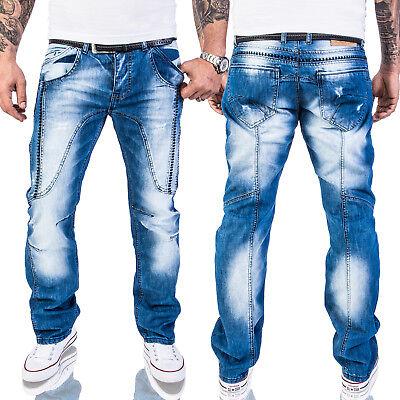 Rock-Creek Herren Jeans Destroyed Denim Vintage Hose Stone Wash RC-2011 Wash Denim Hose
