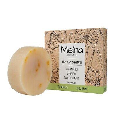 Meina Naturkosmetik - Bio Haarseife mit Zitronengras, Shampoo Bar, Vegan, 80g
