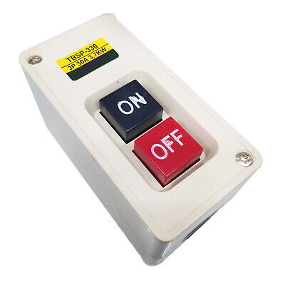 Us Stock 3p 3 Phase 30a 3.7kw Maintained Onoff Power Pushbutton Switch Tbsp-330
