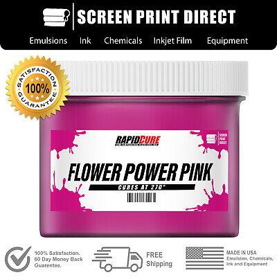 Flower Pink - Screen Printing Plastisol Ink - Low Temp Cure 270f - Quart 32oz