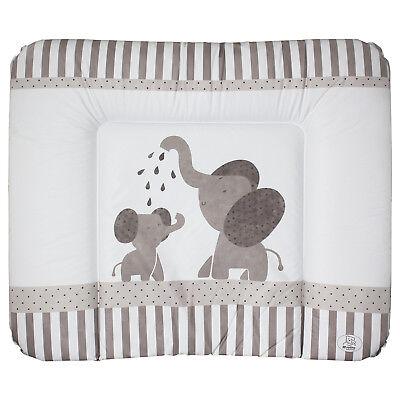 Wickeltischauflage Wickelunterlage Baby Elefanten weiß 75x85 (Rosa Baby-elefanten)