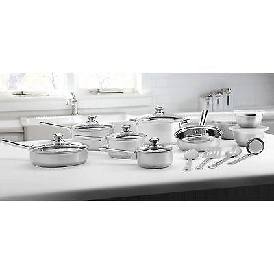 Купить Mainstays - 18-Piece Cookware Set Stainless Steel Mainstays Kitchen