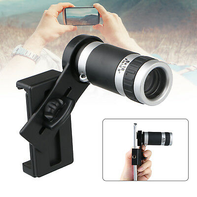 Universal 8X Optical Zoom Hd Telescope Camera Lens   Holder Mobile Cell Phone