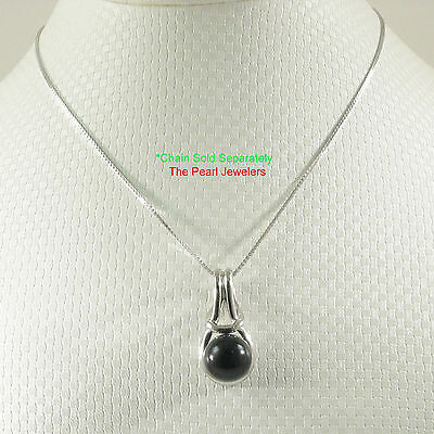 Love Knot Design Black Onyx Pendant Crafted with 925 Solid Sterling Silver - -