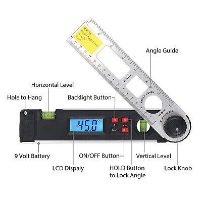 0-270 Digital Lcd Inclinometer Protractor Spirit Level Angle Finder Gauge Meter