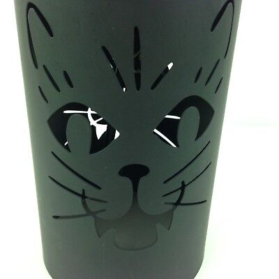 """Halloween Spooky Witche's Kitty Cat Hanging Metal Lantern Candle Holder 7.5"""""""
