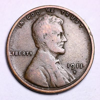 1911 D Lincoln Wheat Cent Penny Lowest Prices On The Bay   Free Shipping