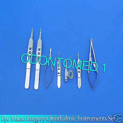 9 Pc O.r Grade Eye Micro Minor Surgery Ophthalmic Set Forceps Scissors Ey-011