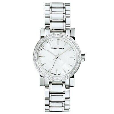 Ladies Burberry city watch with crystal bezel Swiss quartz movement BU9220