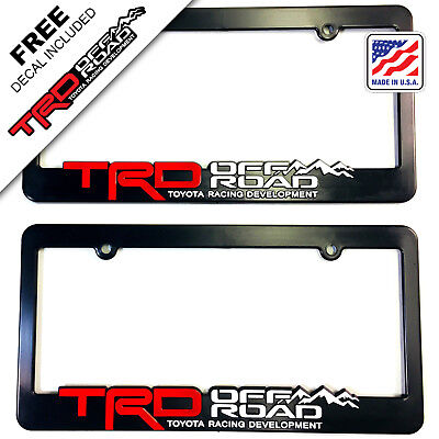 TRD-License-Plate-Frame-Toyota-TRD-Offroad-Tacoma-FJ-Cruiser-4x4-off-road-Rally Cruiser Rear License Frame