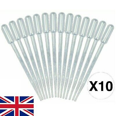 10 X 5ml Disposable Graduated Plastic Pipettes Dropper Transfer Oils Perfume
