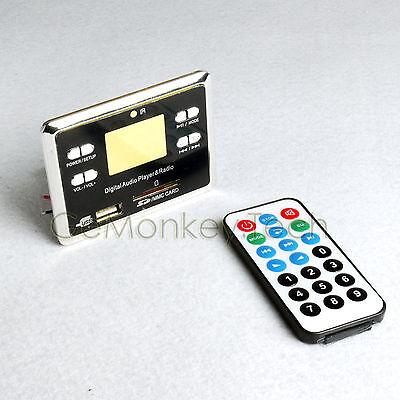 NEW Remote Control USB SD FM MP3 Player Module Lyric Title Show Lyrics 3W*2