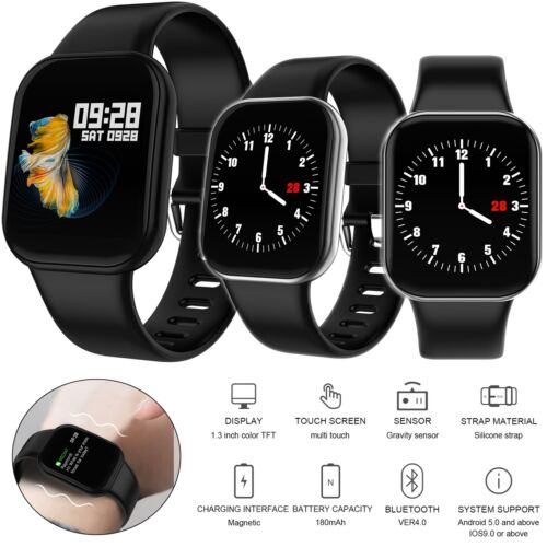 Sports Smart Watch Bluetooth Smartwatch for IOS Android Samsung iPhone XR XS X 8 Cell Phones & Accessories
