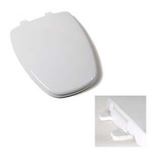 black square toilet seat. Deluxe Plastic Square Slow Close White Elongated Toilet Seat for Eljer  Toilets eBay