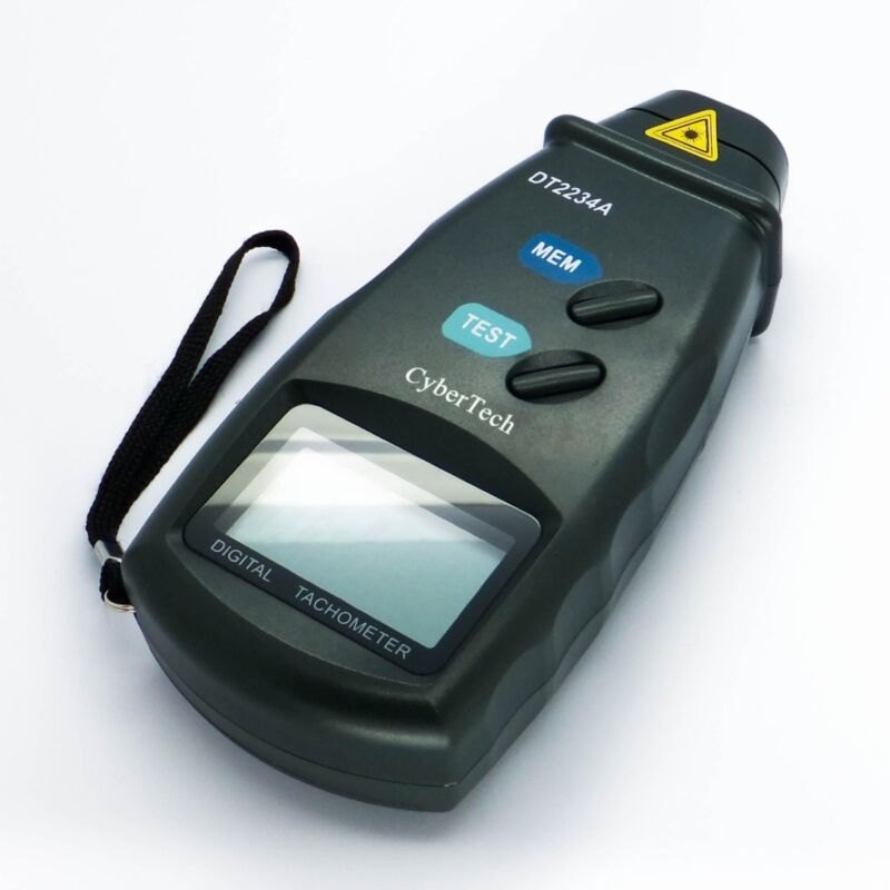 Digital Photo Laser Tachometer Non Contact Tester Tach RPM Meter